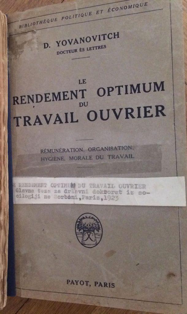 Doktorska teza 1923.